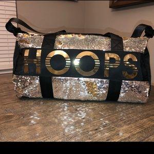 "Justice basketball ""Hoops"" sequin duffle bag"
